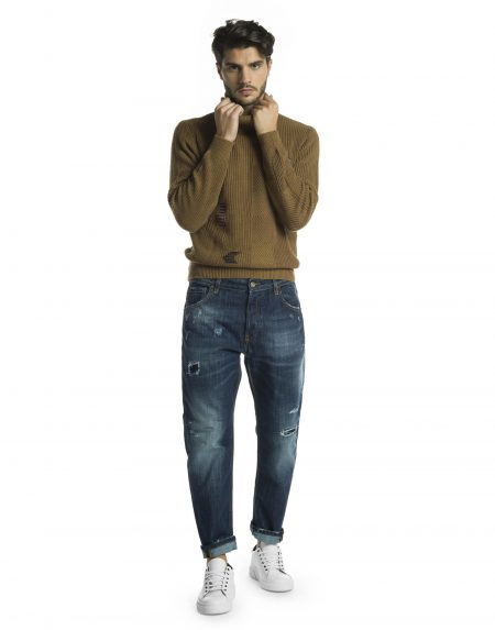 Jeans gold lav104