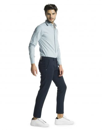 Pantalone righetto blu