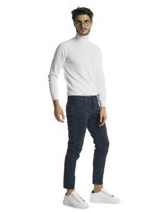 Pantalone silver blu