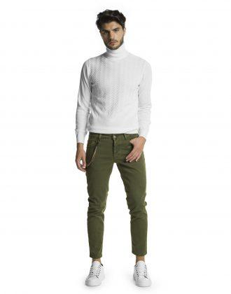 Pantalone silver verde
