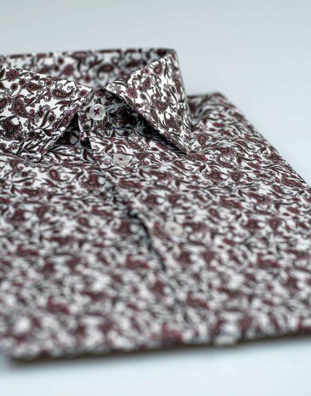 Camicia magnolia bordeaux