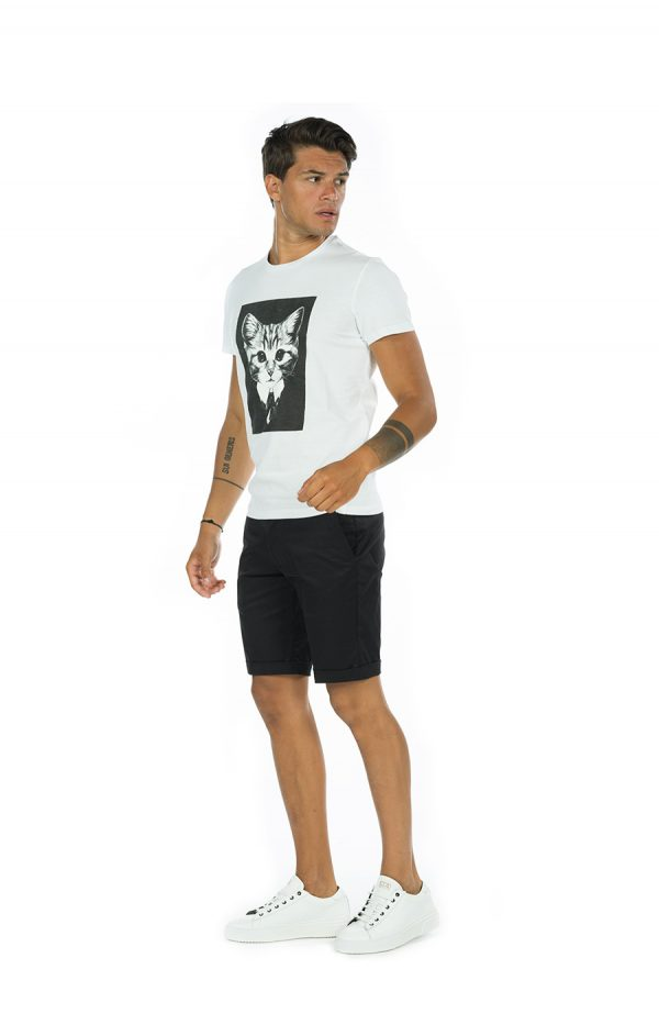 T-shirt cat bianco