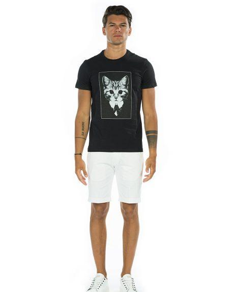 T-shirt cat nero