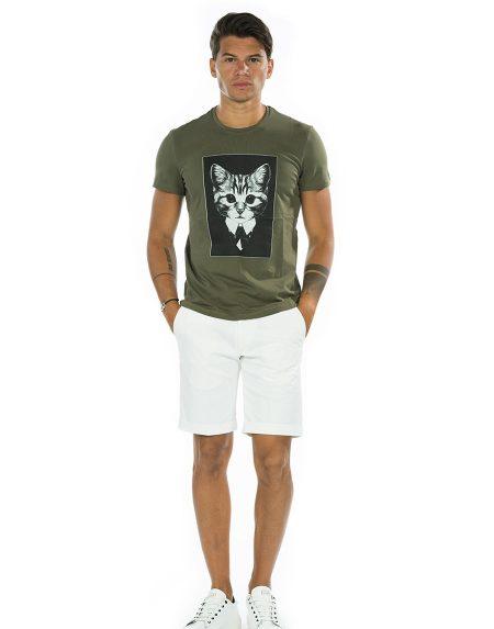 T-shirt cat verde