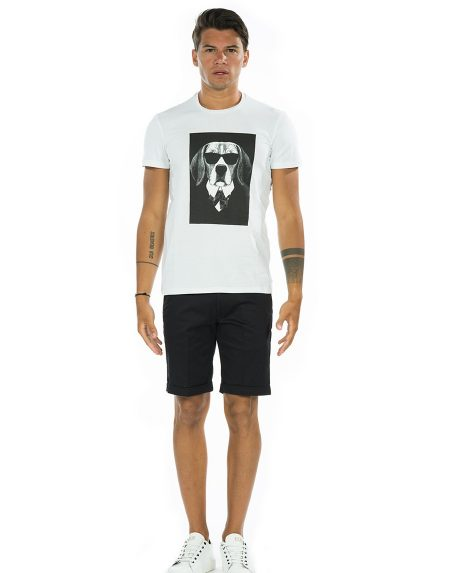 T-shirt dog bianco