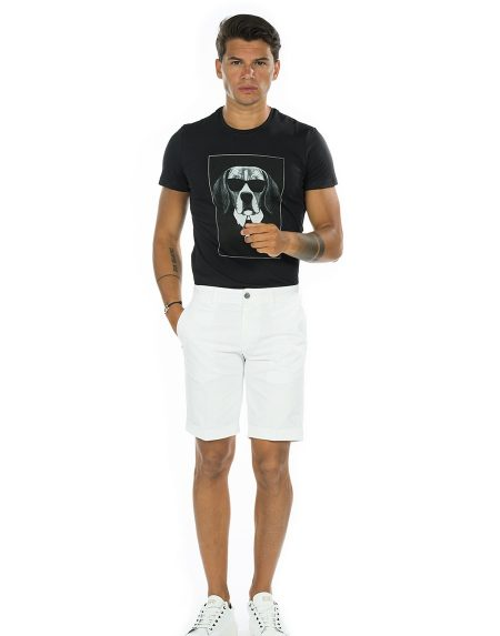 T-shirt dog nero