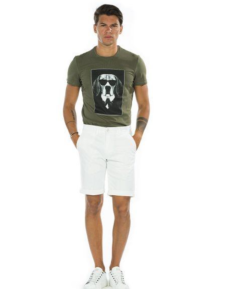T-shirt dog verde