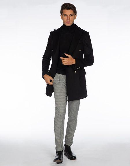 Cappotto franca nero
