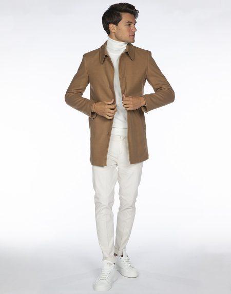 Cappotto olimpia cammello
