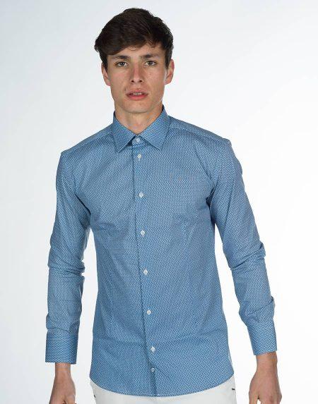 Camicia canarie blu