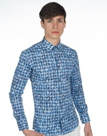 Camicia eubea blu