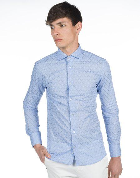 Camicia girasole azzurro