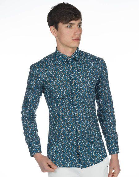 Camicia hierro blu
