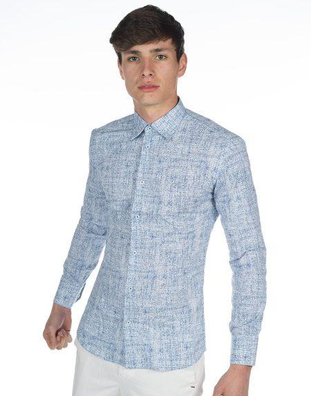 Camicia peonia blu