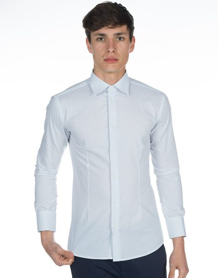 Camicia print bianco