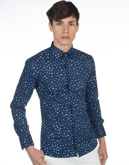 Camicia saaremaa blu