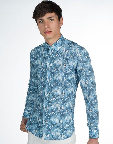 Camicia tirreno blu