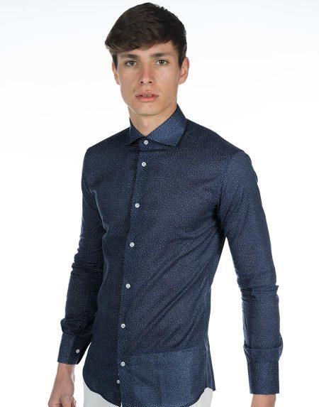 Camicia vulcano blu